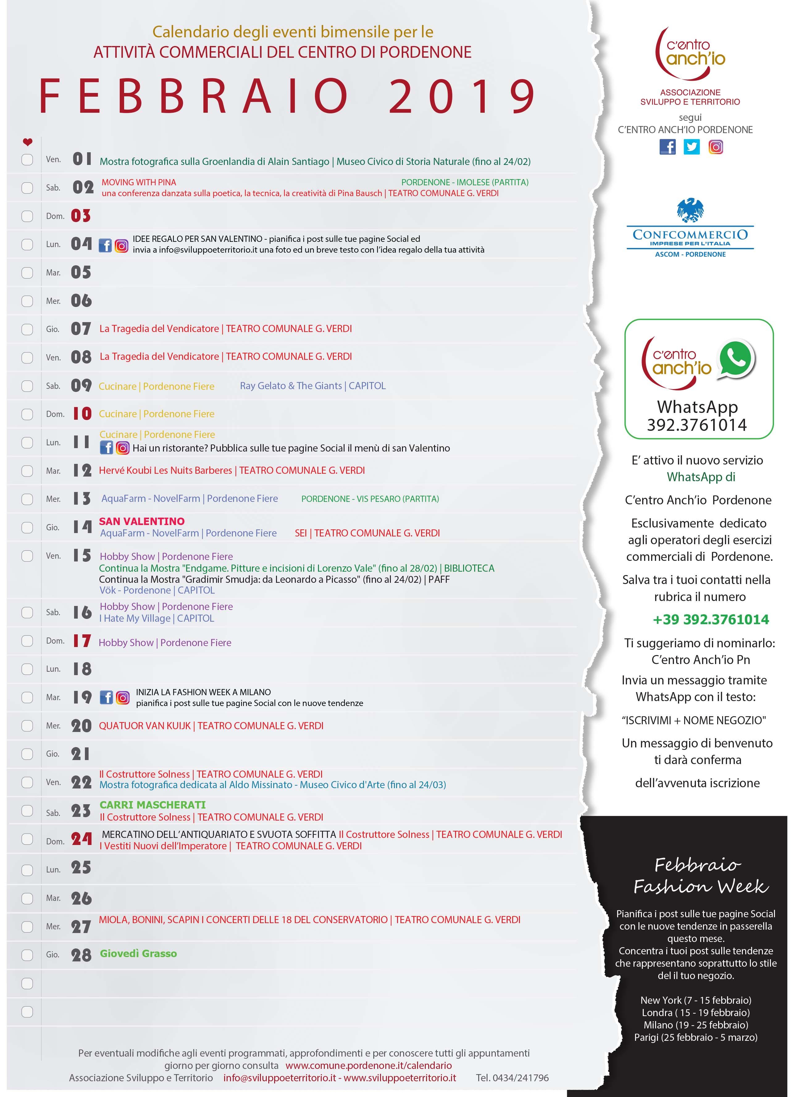 Pordenone Fiere Calendario.Eventi Pordenone